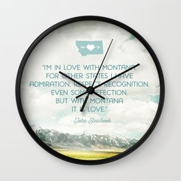 In Love with Montana Wall Clock