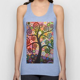Abstract Art Landscape Original Painting ... Tree of Wishes Unisex Tank Top