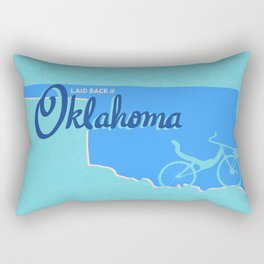 Recumbents are Laid Back in Oklahoma Rectangular Pillow