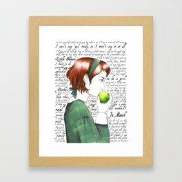 Jo March - Little Women Framed Art Print
