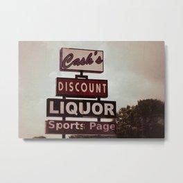 Cash's Metal Print