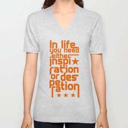 Inspiration or desperation Unisex V-Neck