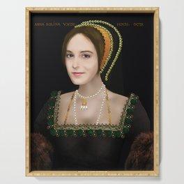 Anne Boleyn digital painting Serving Tray