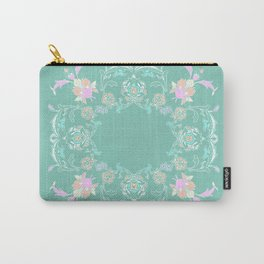 pink and pastel medalion Carry-All Pouch