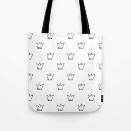 Black Crowns Pattern Tote Bag