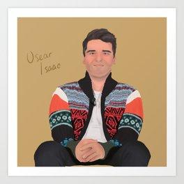 Oscar Isaac sweater Art Print
