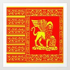 Golden Lion  Art Print
