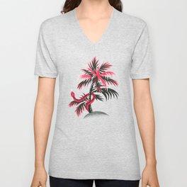 Snake Palms - Light Vintage Coral Unisex V-Neck