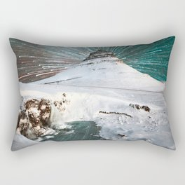 Iceland Night Kirkjufell Arrowhead mountain Rectangular Pillow