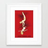 rocky horror Framed Art Prints featuring Rocky Horror Story by DiHA