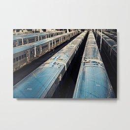 Subway Trains, New York Metal Print