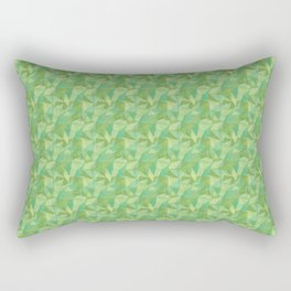 Abstract Polygon Summer Green Cubism Low Poly Triangle Design 2 Rectangular Pillow