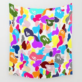 B APE colorful pattern Wall Tapestry