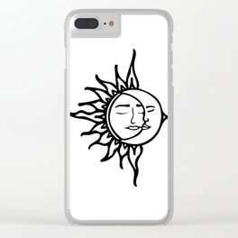 Sun with Moon Clear iPhone Case