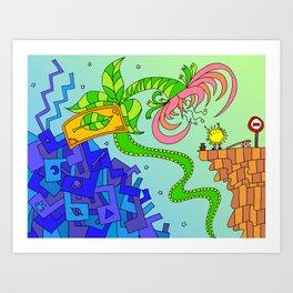 #94: Bob Gets a Lift  Art Print