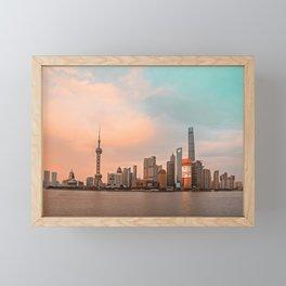 Shanghai City Skyline | China Framed Mini Art Print