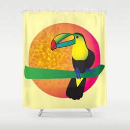 Toucan -Yellow Shower Curtain