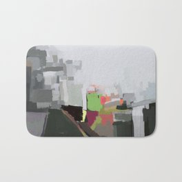 Abstract Fifteen Bath Mat