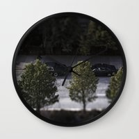 cars Wall Clocks featuring Cars by James Lyle