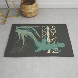 Books Collection: Robinson Crusoe Rug