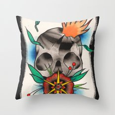 Skull of Unnamed Fear Throw Pillow