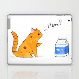 Begging Kitten, orange Laptop & iPad Skin