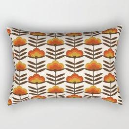 Boogie - retro florals minimal trendy 70s style throwback flower pattern Rectangular Pillow