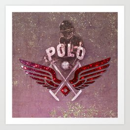 POLO red Art Print