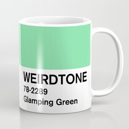 Glamping Green Coffee Mug