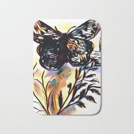 On Butterfly Wings Bath Mat