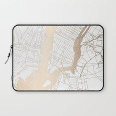 New York City White on Gold Laptop Sleeve