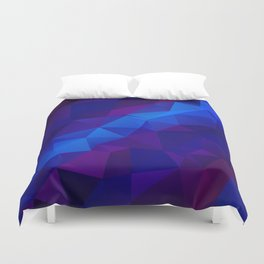Abstract digital art polygon triangles Duvet Cover