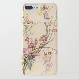 """Three Spirits Mad With Joy"" Art by Warwick Goble iPhone Case"