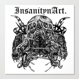 InsanitynArt's Death, As Beautiful as a Hole in the Head Original Illustration. Canvas Print