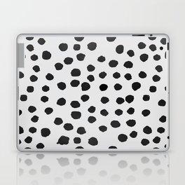 watercolor black polka dots Laptop & iPad Skin