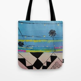 Abbot Kinney Blvd in Lights - Los Angeles California Tote Bag