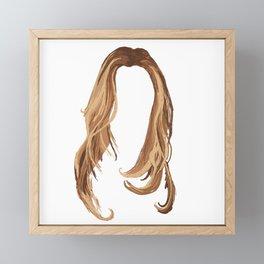 Blonde Hair Framed Mini Art Print