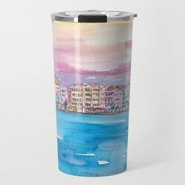 Willemstad Curacao Caribbean Sunset Travel Mug