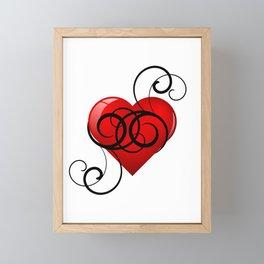 Flourished Heart Framed Mini Art Print