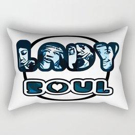 Lady Soul - Blue Rectangular Pillow