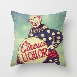 Circus Liquor, N. Hollywood, CA. Throw Pillow