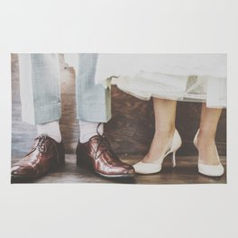 Vintage Swing Couple Shoes Rug