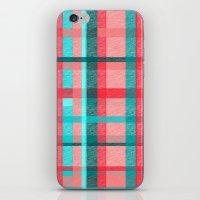 plaid iPhone & iPod Skins featuring Plaid by Nichole B.