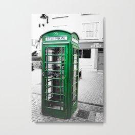 Irish Phone Booth Metal Print