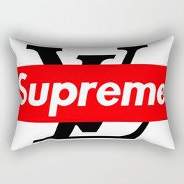 supreme x lv logo Rectangular Pillow