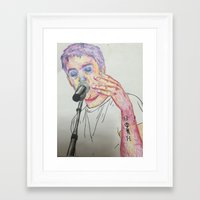tyler spangler Framed Art Prints featuring Tyler by Jessi