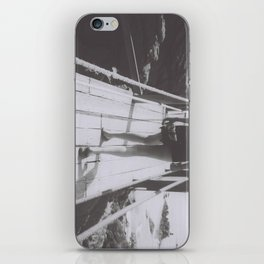 the unhurried walker iPhone Skin