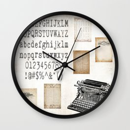 Vintage Office - Writers Block Wall Clock