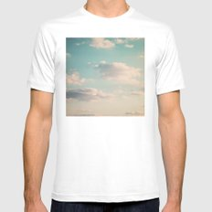 An endless affair with the upper atmosphere Mens Fitted Tee MEDIUM White