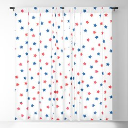 Red & Blue Stars // July 4th Collection Blackout Curtain